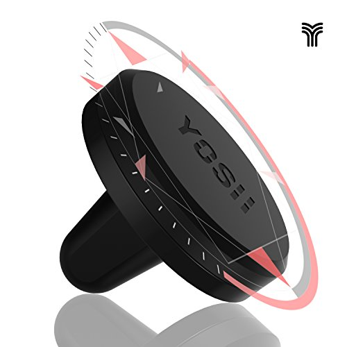 Autohalterung KFZ handyhalterung YOSH® Auto Lüftung Magnet kfz halterung für iPhone 6 6s plus 5 5s 7, Samsung Galaxy S6, S7 Edge Note 4 5 6, LG G5, G4, V10, HTC Nexus wie Smartphone and Tablets oder Navis zur Befestigung in der Luftaustrittsöffnung✪LEBENSLANGE GARANTIE✪(schwarz)