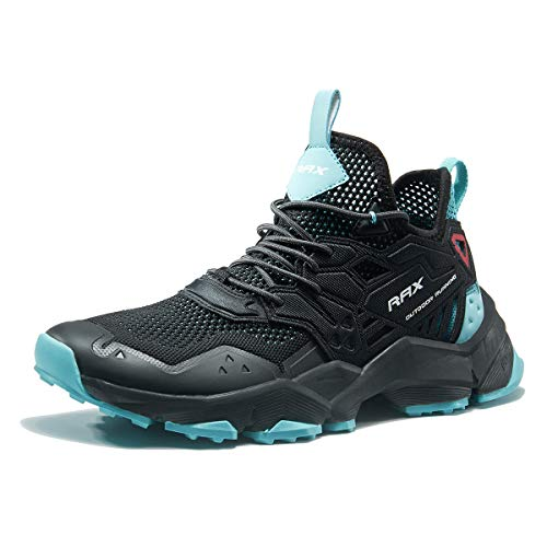 RAX Men's Ventilation Hiking Shoe Outdoor Trail Running Sneaker Black