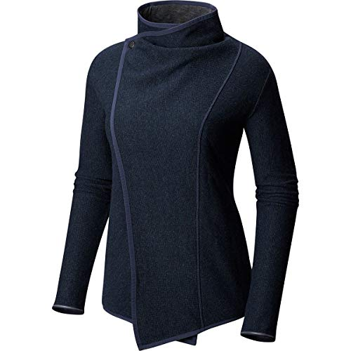 Mountain Hardwear Women's Sarafin Wrap Sweater Dark Zinc X-Small - Mountain Hardwear Nylon Sweater