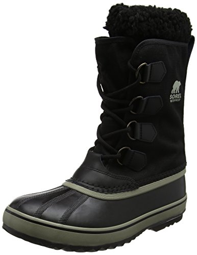 Sorel Men's 1964 Pac Nylon Snow Boot,Black/Tusk,11 M (Nylon Snow Boots)