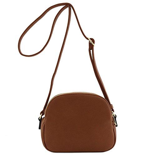 Double Brown Moon Bag Crossbody Half Zip zw1qrzS