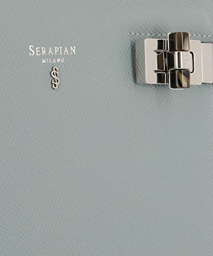 Serapian Borsa A Mano Donna SEV0EWLL6253M22A221 Pelle Azzurro