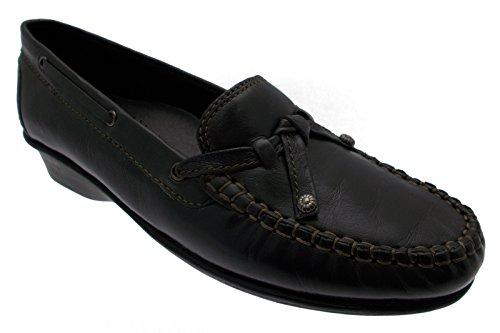 wedge classique mocassin en cuir gris borne femme chaussure