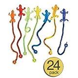 Sticky Stretch Lizard Toy - Wholesale Bulk Pack of 24
