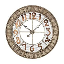 Sterling 128-1001 Metal Round Outdoor Wall Clock, 36-Inch, Montana