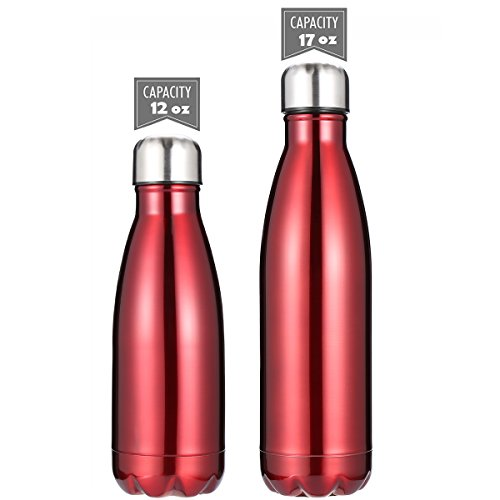 - DKASA Stainless Steel Vacuum Insulated Water Bottle,Cola Shaped,Business Convenience,Perfect for Outdoor Sports Camping Hiking Cycling, Keeps Your Drink Hot & Cold (Red, 12 oz(350ml))