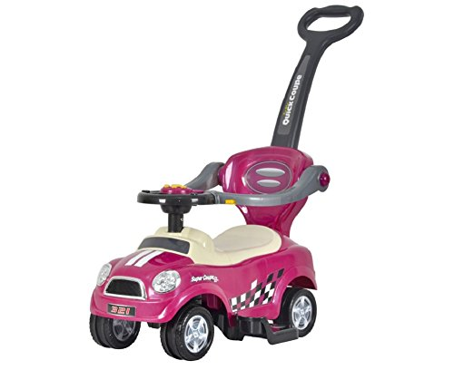 Best Ride On Cars Mini 3-in-1 Push Car, Purple