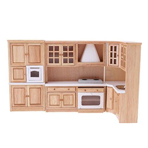 SM SunniMix 1:12 Scale Dollhouse Miniature Kitchen Cabinet Countertop Kit, Min Furniture Dining Room Decorations