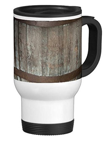 Elite Printing Ale Barrel 14 Ounce Stainless Travel Mug Thermos