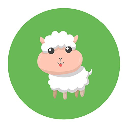 MAGJUCHE Green Little Sheep Stickers, Farm Animal Lamb Unisex Baby Shower or Birthday Sticker Labels, 2 Inch, 40-Pack by MAGJUCHE