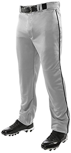 ChamproメンズTriple Crown Open Bottom Piped Pants B01BI7F3EQ S|Grey|Black Grey|Black S