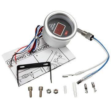 52mm Red Digital Water Temperature Gauge Display With Temp Sensor Fitting Kit - Car Repair & Maintenance Car Modifications - 1 x Water Temperature Gauge, 1 x U bracket, 1 x Temp Sensor, 1 x User