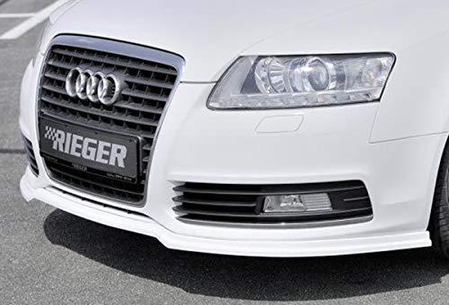: 10.08-08.11 da Facelift 4F Rieger Spoiler Anteriore Nero Opaco per Audi A6
