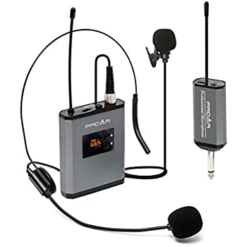 amplivox s1601 uhf wireless headset lapel microphone with 16 channel kit receiver. Black Bedroom Furniture Sets. Home Design Ideas
