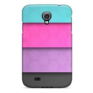 [dJHHDRO8107PGYgr]premium Phone Case For Galaxy S4/ Colorful Stripes Tpu Case Cover