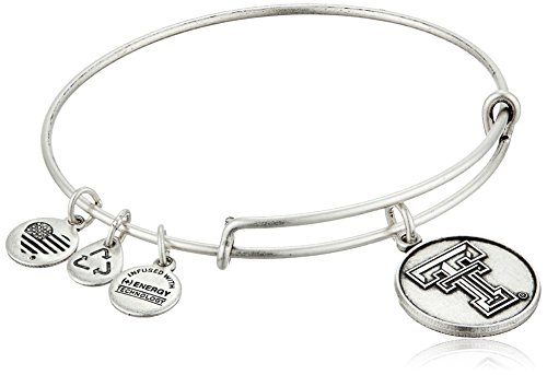 Alex and Ani Texas Tech University Logo Expandable Rafaelian Silver Bangle Bracelet