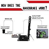 RYANSTAR Hydraulic Handbrake Adjustable Ebrake Long Lever Handle Fit for Drift Track Rally Racing Master Cylinder 0.75, E Brake Racing Emergency Brake Vertical Position Ergonomic Handle & Anti-Slip