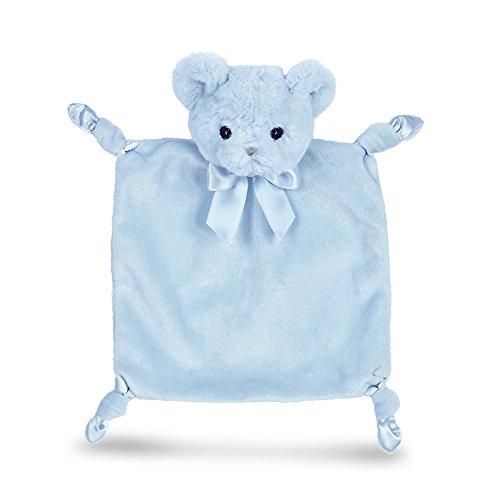 (Bearington Baby Wee Huggie Bear, Small Blue Teddy Bear Stuffed Animal Lovey Security Blanket, 8