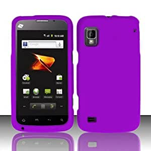 Cellphone Cover For ZTE Warp N860 (Boost) Rubberized Cover - Purple