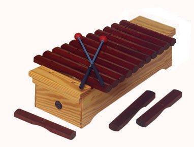 Xilófono soprano, Palo rojo, Do2/Fa3, diatónico