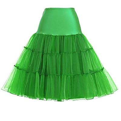 Mojonnie Women 50s Petticoat Skirts Tutu Crinoline Underskirt