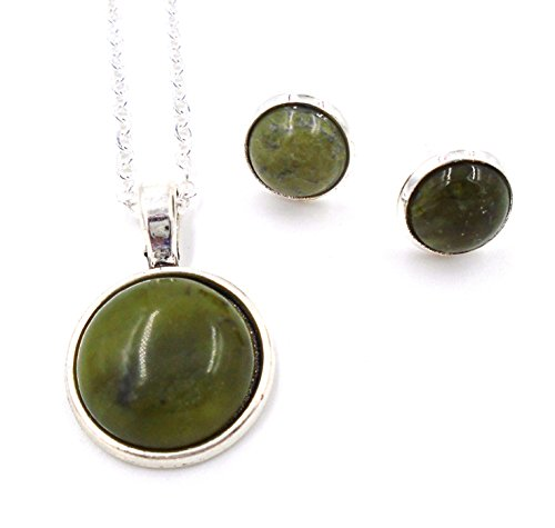 le: Round Pendant and Earrings SET by J.C. Walsh & Sons (Connemara Marble Set)