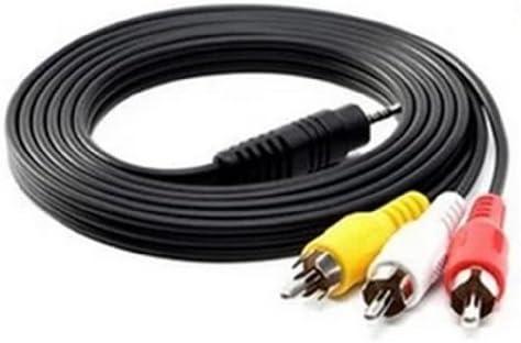 DCMA パソコン用品 3.5mm オス 変換 3色 ケーブル DV AV 銅芯 60cm 1点