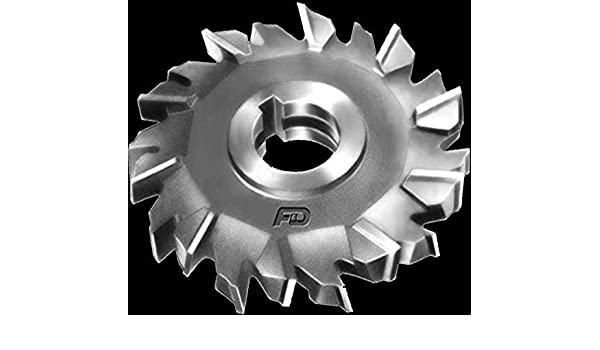 F/&D Tool Company 11350-A8031 Staggered Tooth Side Milling Cutter 10 Diameter High Speed Steel 1.5 Hole Size 15//16 Width of Face