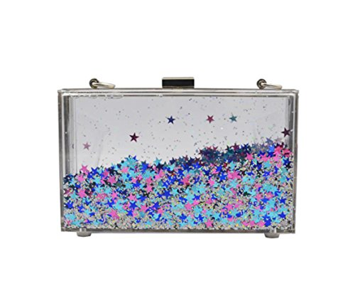 Messenger Womens Liquid Acrylic Quicksand New Transparent Silver Bags Dinner Bag Shoulder Bag Pearl vHxqrXvn