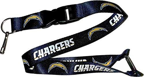 (aminco NFL Los Angeles Chargers Team Lanyard, Blue)