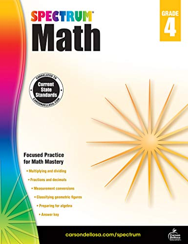 Spectrum Math Workbook, Grade 4 (Go Math Grade 4 Answer Key Chapter 12)