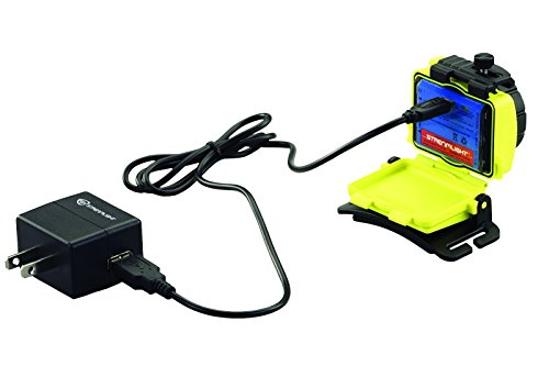 Streamlight 61602 Double Clutch USB Rechargeable Headlamp, 120VAC, Yellow - 125 Lumens