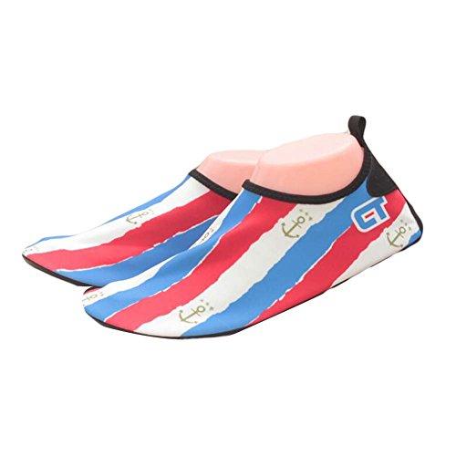 Blanc Chaussures Chaussures Plage de Rouge Bain de Yoga d'eau d'été Chaussures Chaussures Femmes Sandales Bleu de UqwO1zpz