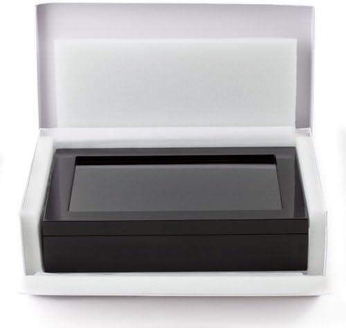 Black luxury cufflink cuff fake gift box cuboid link N6Z6