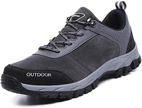 ウォーキングシューズ ハイキングシューズ メンズ スニーカー シューズ 靴 レースアップ 25.0cm トレッキングシューズ ローカット 登山靴 グレー 耐摩耗性 遠足 歩きやすい 防滑 春 夏 クライミングシューズスポーツシューズ