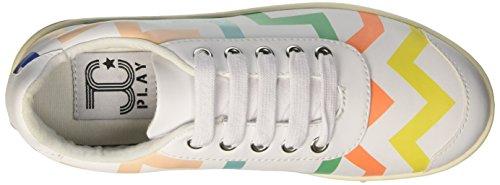 Jeffrey Campbell Damen Zigzag Cheerleader Bianco (Colorful White)