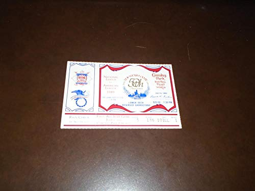 1983 BASEBALL ALL STAR GAME TICKET STUB CHICAGO NEAR MINT