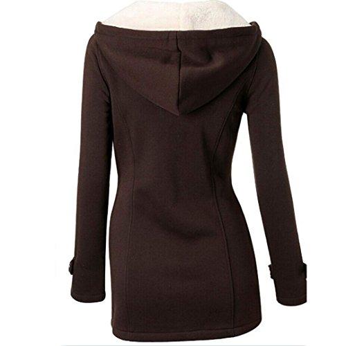 la la rompevientos de moda calientes las de tirilla mujeres Internet capa de café la larga la de las de outwear El chaqueta delgada lanas 65qBwaz