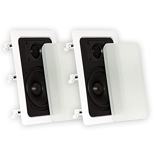Theater Solutions TS50W in Wall Speakers Surround Sound Home Theater Pair (The Best In Wall Speakers For Home Theater)