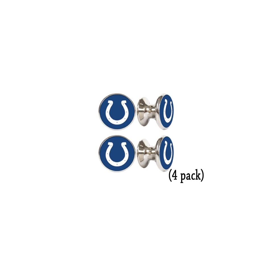 Indianapolis Colts NFL Stainless Steel Cabinet Knobs / Drawer Pulls (4 pack)