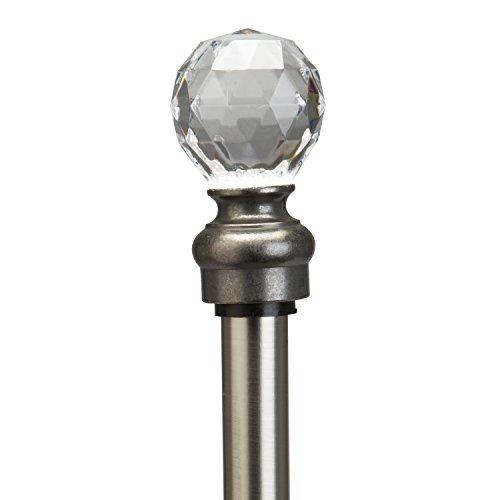 Kennedy Home Crystal Ball Curtain Rod