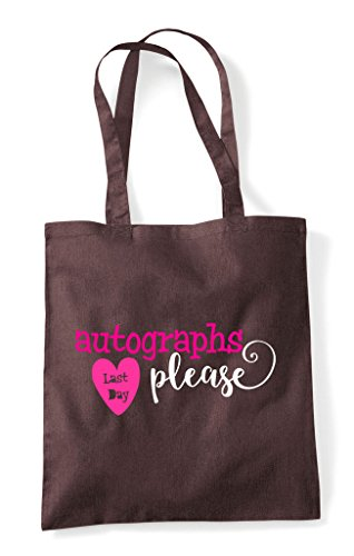 Please Shopper Brown Autographs Tote Day Last Bag qw1OEgg