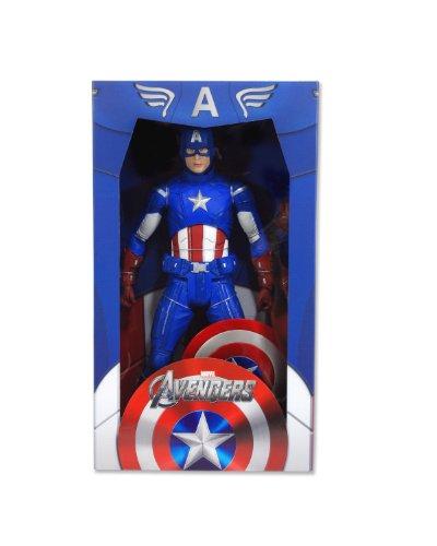 "NECA Avengers Captain America 18"" Action Figure, Scale 1:4"