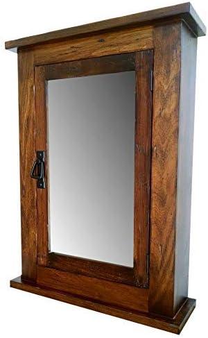 Amazon Com Primitive Mission Medicine Cabinet Surface Mount Distressed Medium Finish Solid Wood Handmade Home Kitchen