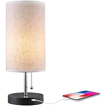 Amazon.com: Moderna lámpara LED de mesita de noche con luz ...
