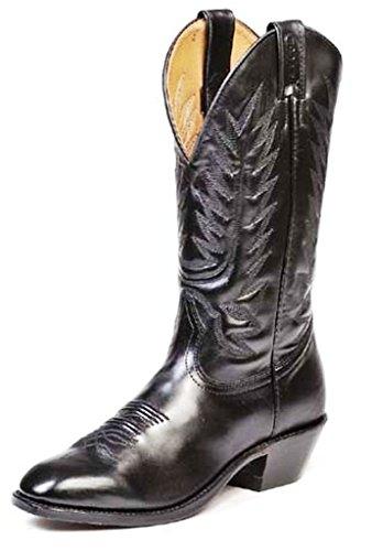 Bottes américaines - santiags: bottes country BO-8063-75-E (pied normal) - Homme - Noir