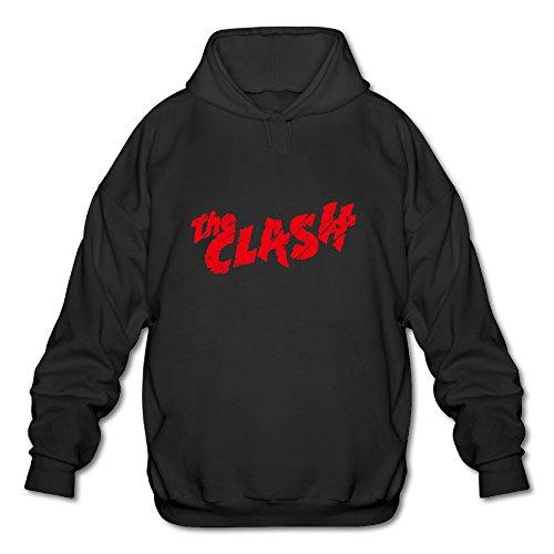 [BOOMY The Clash Rock Band Man's Hooded Sweatshirt SIZE XXL] (Lightning Strike Costume)