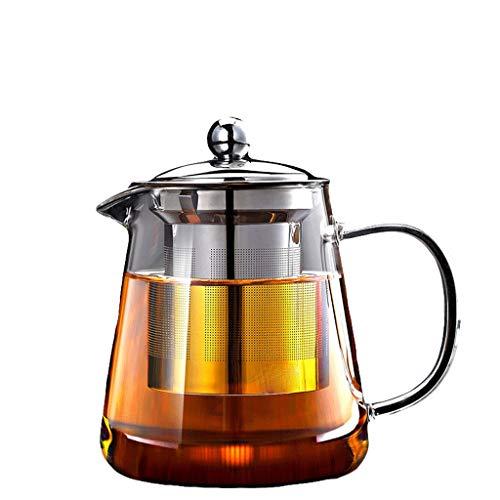 Glass Tea Set Elegant Cup Teapot High Temperature Thickening Teapot Stainless Steel Filter Leak Office Tea Ceremony Pot Household Kettle Tea Pots (Capacity : C)