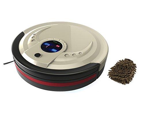 bObsweep Standard Robotic Vacuum And Mop Cleaner, Champagne (Complete Set) w/ Bonus: Premium Microfiber Cleaner Bundle (Robotic Vacuum Bobsweep compare prices)