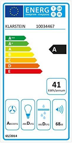 Klarstein Lumiera Lüfterbaustein, Unterbauhaube, 70 cm, EEK A, 750 m3/h, Abluft und Umluft, Touch Control, 3 Leistungsstufen, Aluminium-Fettfilter, Dunstabzugshaube, weiß